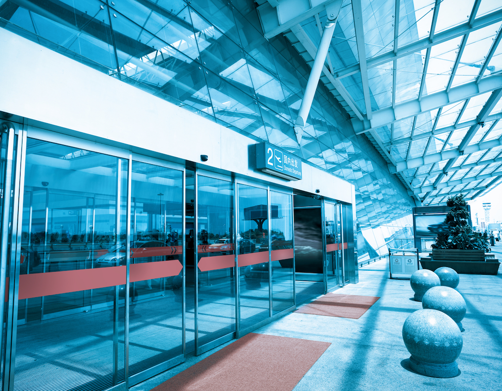 Terminal Glass Door by Horton Automatics