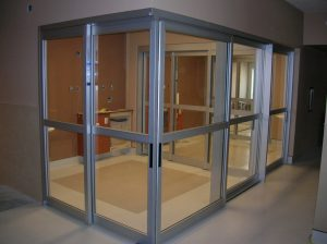 Sliding door in Dialysis Room