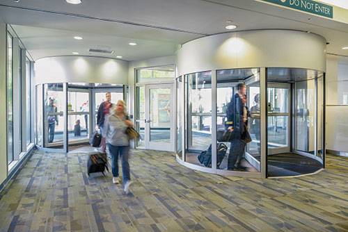 Automatic Door Enterprises Revolving Door Sensors Error-Free