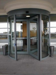 Revolving Door in Fairmont Vancouver Airport