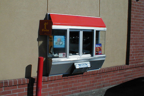 Drive Thru Window for fast food restaurants from Automatic Door Enterprises
