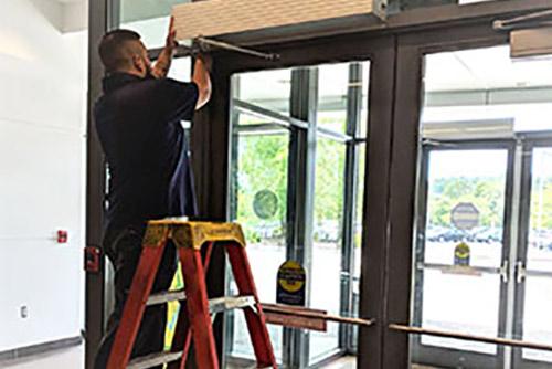 Summer maintenance for automatic doors by Automatic Door Enterprises