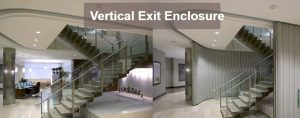 Won-Door Vertical Exit Enclosure