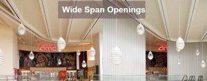 Won-Door Wide Span Openings